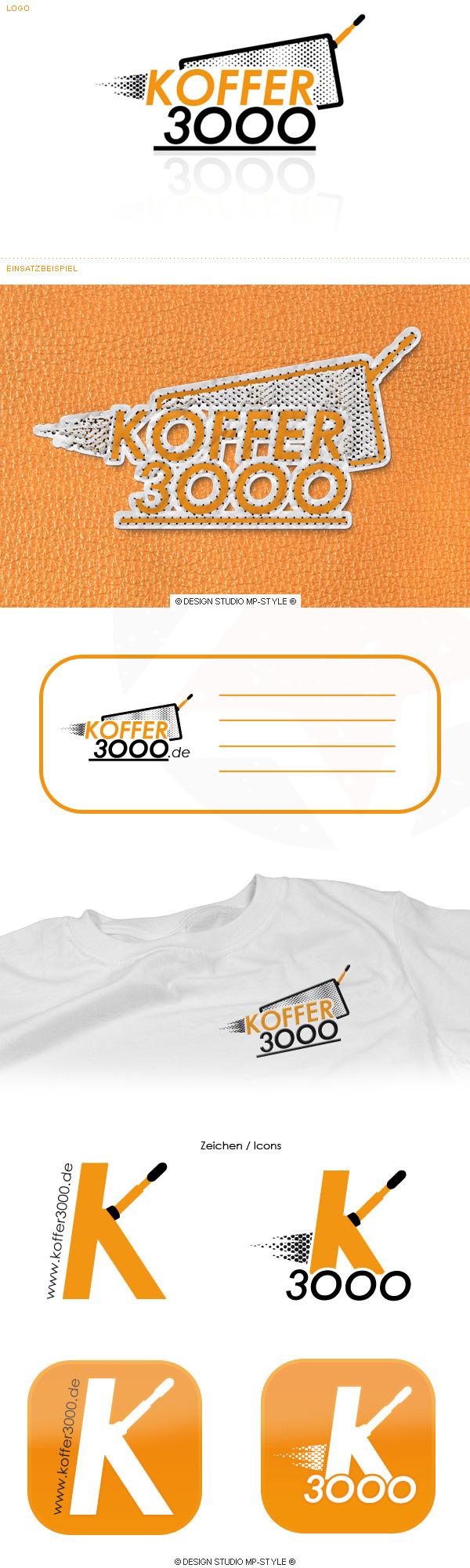 Das Logo für Koffer3000.de - Design Studio MP-STYLE®