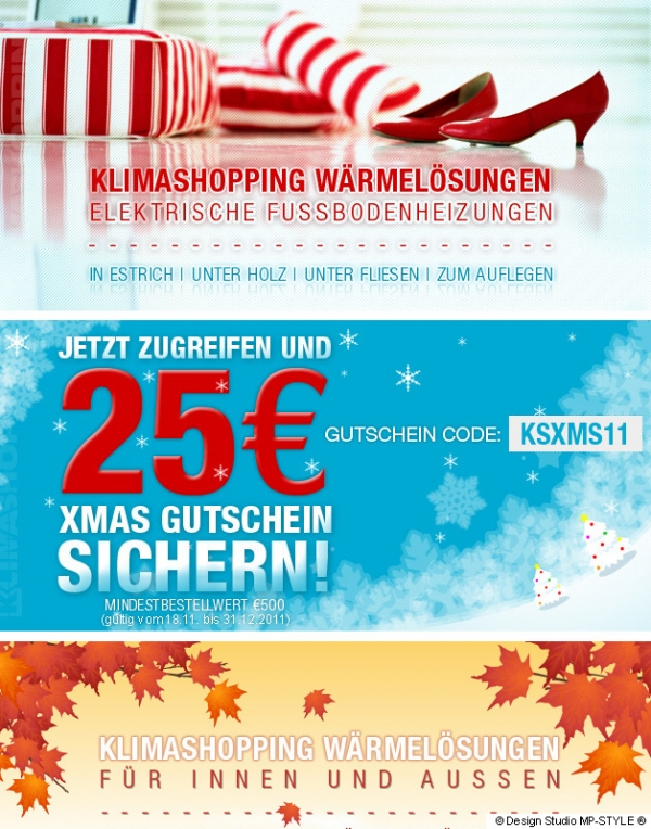 Grafik-Set 2011 für Klimashopping.com