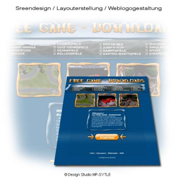 Homepagevorlage v2 für Free Game Downloads - Design Studio MP-STYLE®