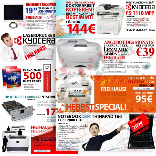 Grafik-Set 2010 für Digipartner Online-Shop