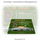 Homepagevorlage v1 für Free Game Downloads