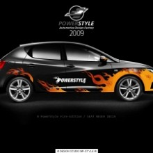 Powerstyle - Auto decal sets, Fire-Edition V1