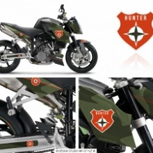 Powerstyle - Hunter - motorbike decal set